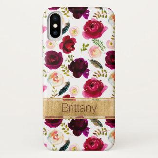 Funda Para iPhone X Floral bohemio, caso del iPhone X de la casamata