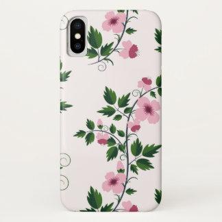 Funda Para iPhone X Floral rosado