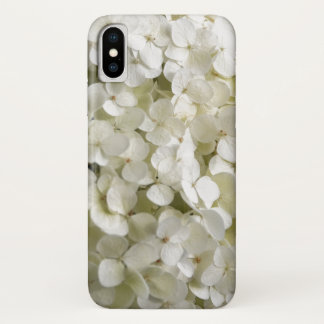 Funda Para iPhone X Flores blancas del Hydrangea