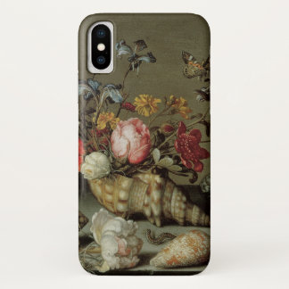 Funda Para iPhone X Flores, cáscaras e Insects Balthasar van der Ast
