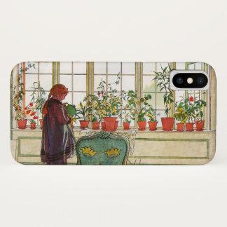Funda Para iPhone X Flores en el Windowsill de Carl Larsson