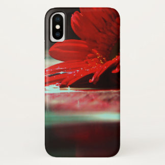 Funda Para iPhone X Flores rojas del Gerbera de la margarita