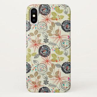 Funda Para iPhone X Fondo floral 2