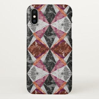 Funda Para iPhone X fondo geométrico de mármol G436 del caso del