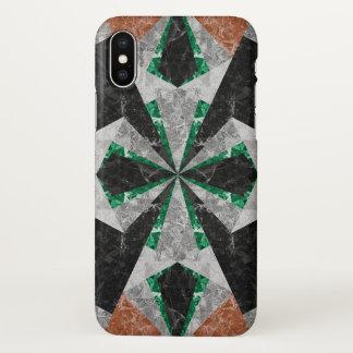 Funda Para iPhone X fondo geométrico de mármol G439 del caso del