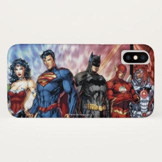 Funda Para iPhone X Formación de la liga de justicia 52 de la liga de