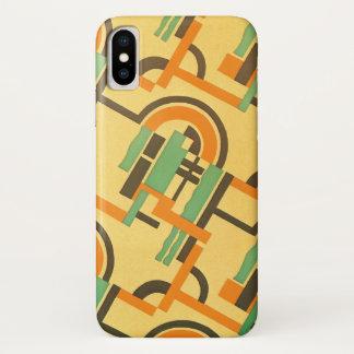 Funda Para iPhone X Formas geométricas del art déco del jazz del color
