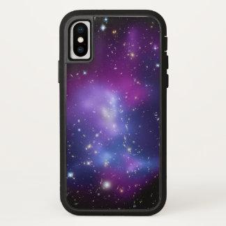 Funda Para iPhone X Foto púrpura del espacio de las galaxias