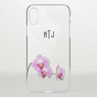 Funda Para iPhone X Fotografía floral de la orquídea púrpura - BG