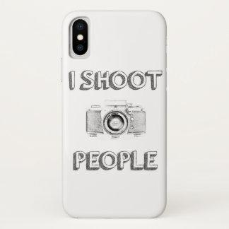 Funda Para iPhone X fotógrafo divertido de la cámara de la foto del