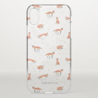 Funda Para iPhone X Fox del invierno