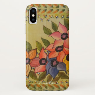 Funda Para iPhone X Frida Kahlo pintó Flores