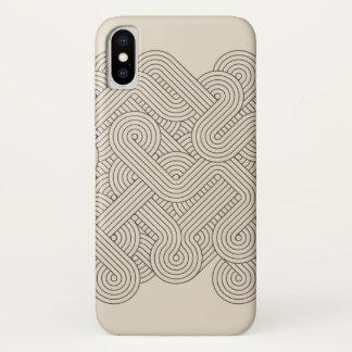 Funda Para iPhone X Frontera abstracta