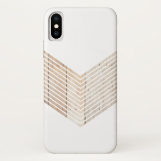Funda Para iPhone X Galón minimalista blanco con madera