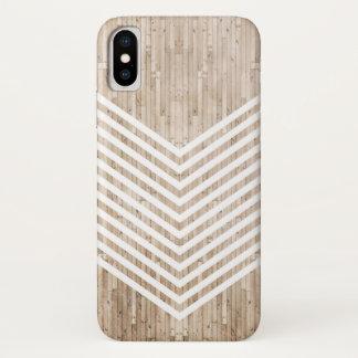 Funda Para iPhone X Galón minimalista de madera