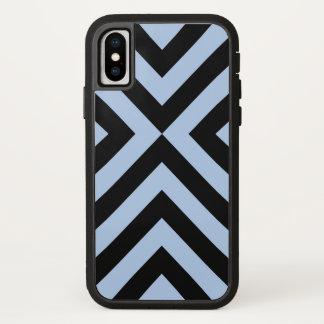 Funda Para iPhone X Galones azules claros y negros intrépidos