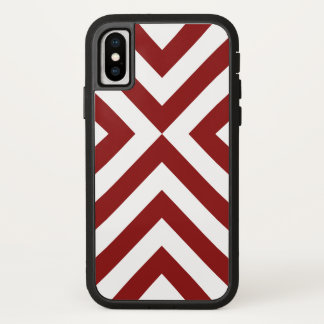 Funda Para iPhone X Galones rojos y blancos llamativos