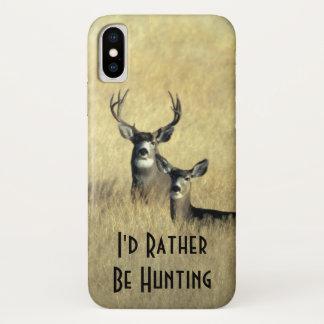 Funda Para iPhone X Gama masculina del dólar del ciervo mula de la