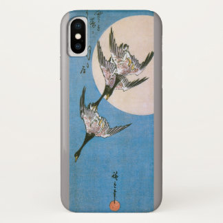 Funda Para iPhone X Gansos salvajes que vuelan hacia abajo a través de