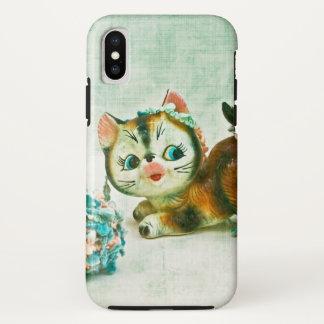 Funda Para iPhone X Gato del gatito del vintage