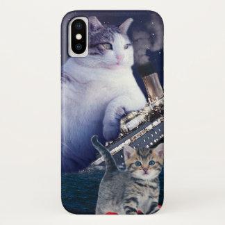 Funda Para iPhone X - Gato gordo - gatos divertidos titánicos - gato