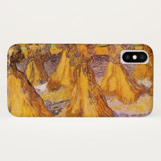 Funda Para iPhone X Gavillas de Van Gogh de trigo, bella arte del