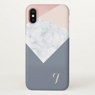 Funda Para iPhone X geométrico beige gris del oro color de rosa de