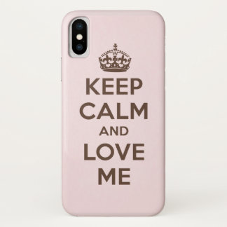 Funda Para iPhone X Guarde la calma y ámeme