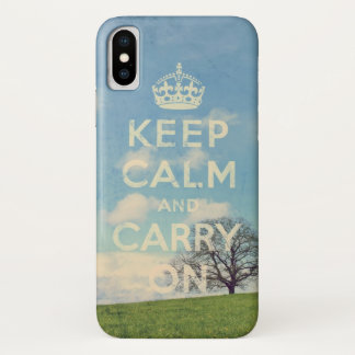 Funda Para iPhone X guarde la calma y continúe
