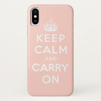 Funda Para iPhone X guarde la calma y continúe la original