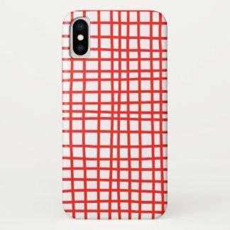 Funda Para iPhone X Guinga roja del caso hecha a mano