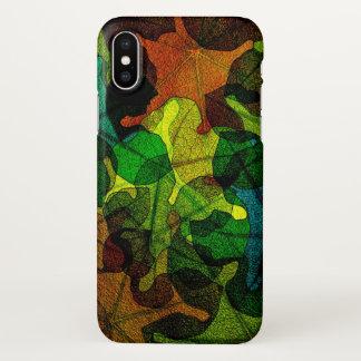 Funda Para iPhone X Hojas coloridas de la naturaleza