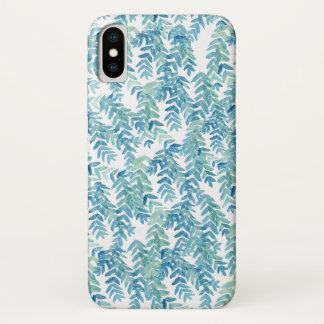 Funda Para iPhone X Hojas tropicales