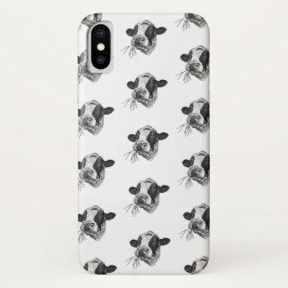 Funda Para iPhone X Holstein-frisón feliz DairyPreserver (blanco)