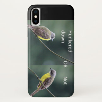 Funda Para iPhone X hunkered abajo o no el pájaro