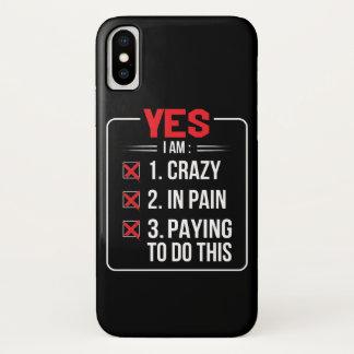 Funda Para iPhone X Im loco en el dolor que paga hacer Krav Maga