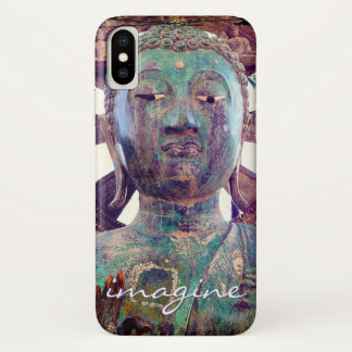 "Funda Para iPhone X ""Imagínese"" la foto asiática de la cabeza de la"