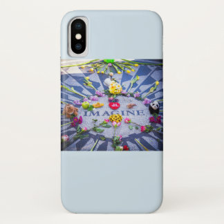 Funda Para iPhone X Imagínese Strawberry Fields NYC