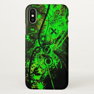 Funda Para iPhone X impresión abstracta verde radiactiva