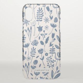 Funda Para iPhone X Impresión botánica popular