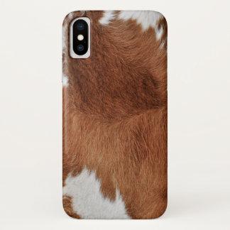 Funda Para iPhone X Impresión de la piel de la vaca