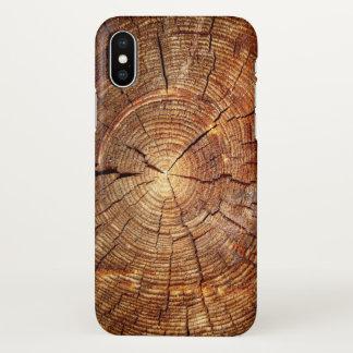 Funda Para iPhone X impresión de madera de madera de las texturas de
