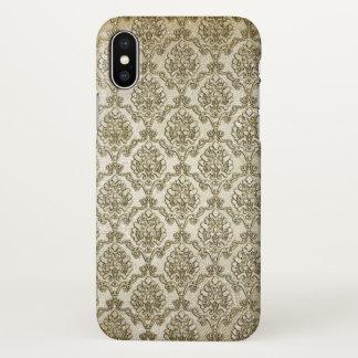Funda Para iPhone X Impresión del damasco del brocado del vintage