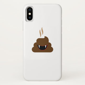 Funda Para iPhone X Impulso Emoji Halloween divertido del vampiro