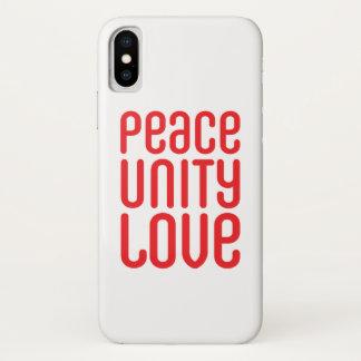 Funda Para iPhone X iPhone 7, Barely There del ♥ del AMOR de la UNIDAD