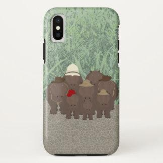 Funda Para iPhone X iPhone X, caja dura de Apple de los hipopótamos