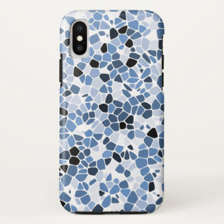 Funda Para iPhone X iPhone X, caja dura del teléfono (mosaico azul) de