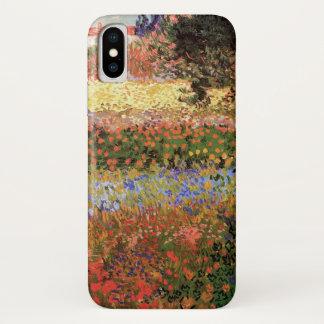 Funda Para iPhone X Jardín floreciente de Van Gogh, bella arte floral