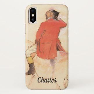 Funda Para iPhone X Jinete en una capa roja de Edgar Degas