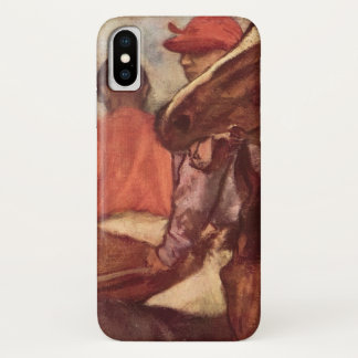 Funda Para iPhone X Jinetes de Edgar Degas, arte de la carrera de